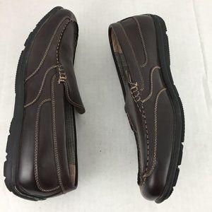 Nunn Bush Men's Shoes Size 9.5 Brown Slip On Dual